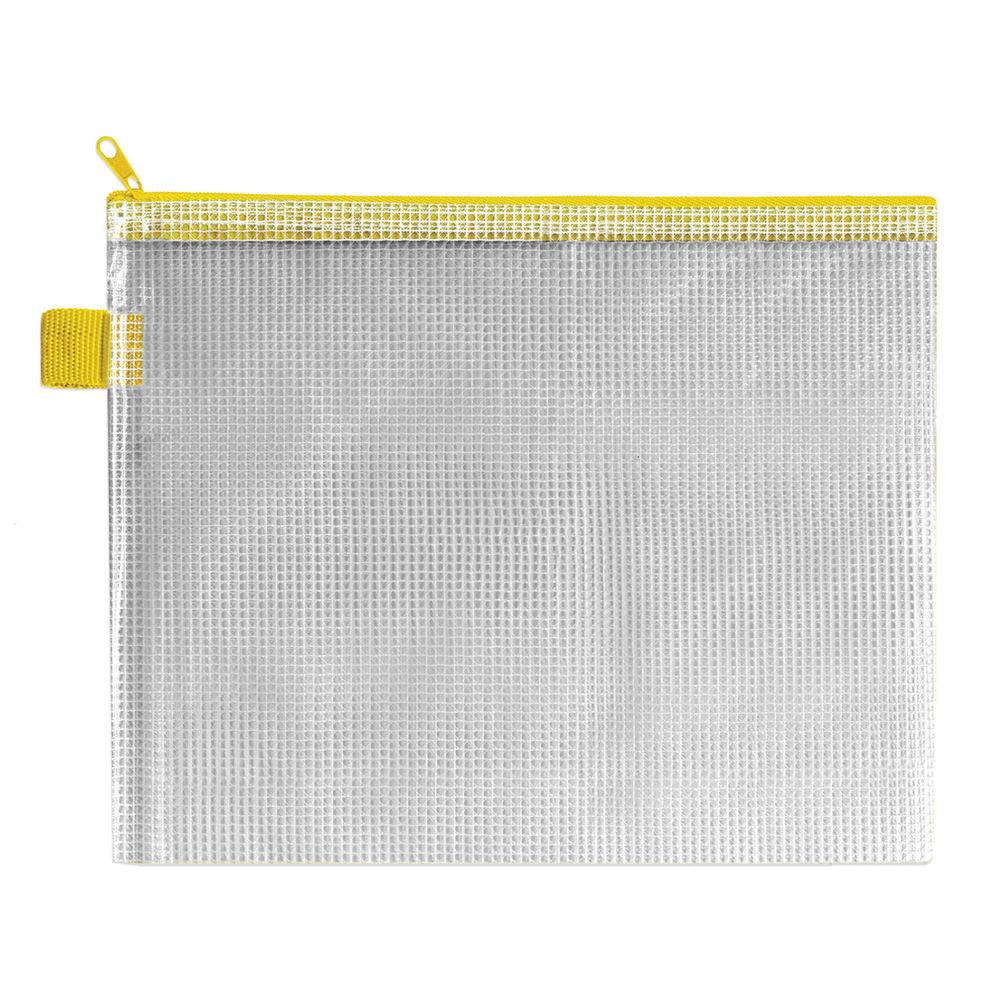 BDS Yellow 255 x 205mm Handy Zip Pouch, Pack of 5 - ZIPPER YELLOW