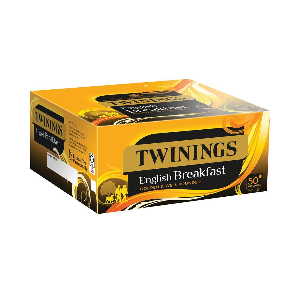 Twinings English Breakfast Envelope Tea Bags, Pack of 300 | F09583