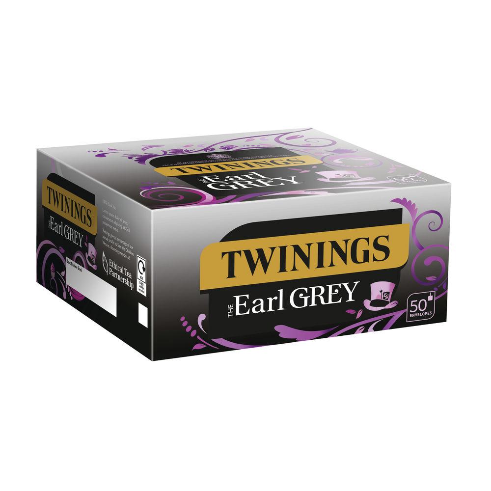 Twinings Earl Envelope Grey Tea Bags, Pack of 300 - F09582
