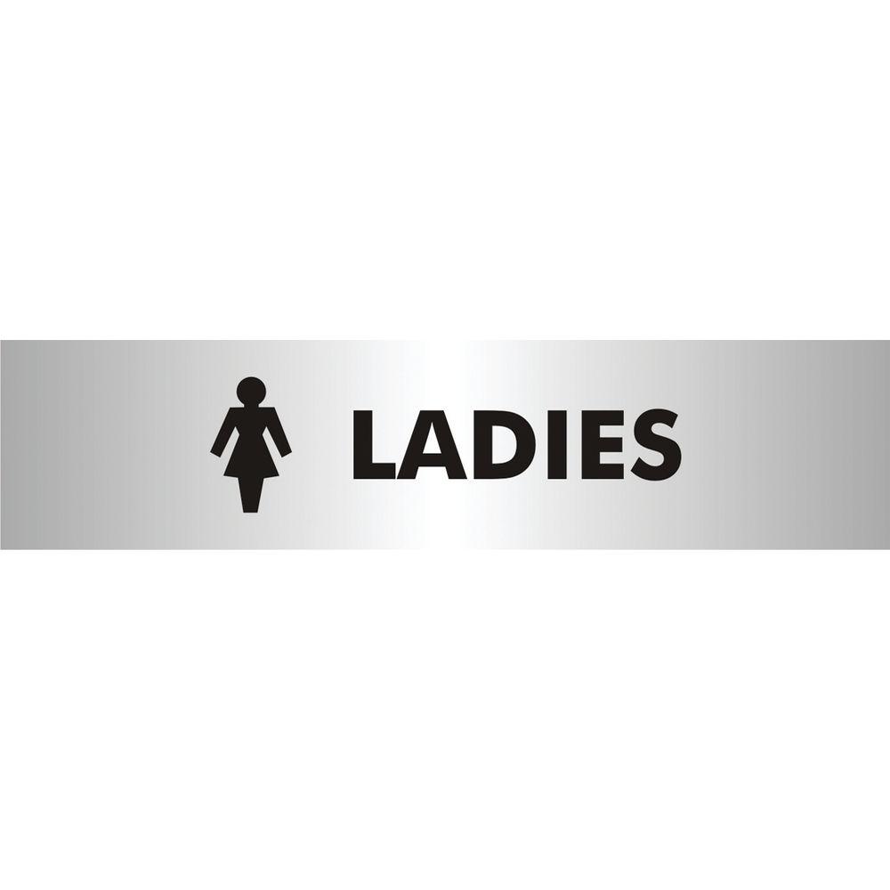 Ladies Symbol 190 x 45mm Aluminium Acrylic Sign - SR22357