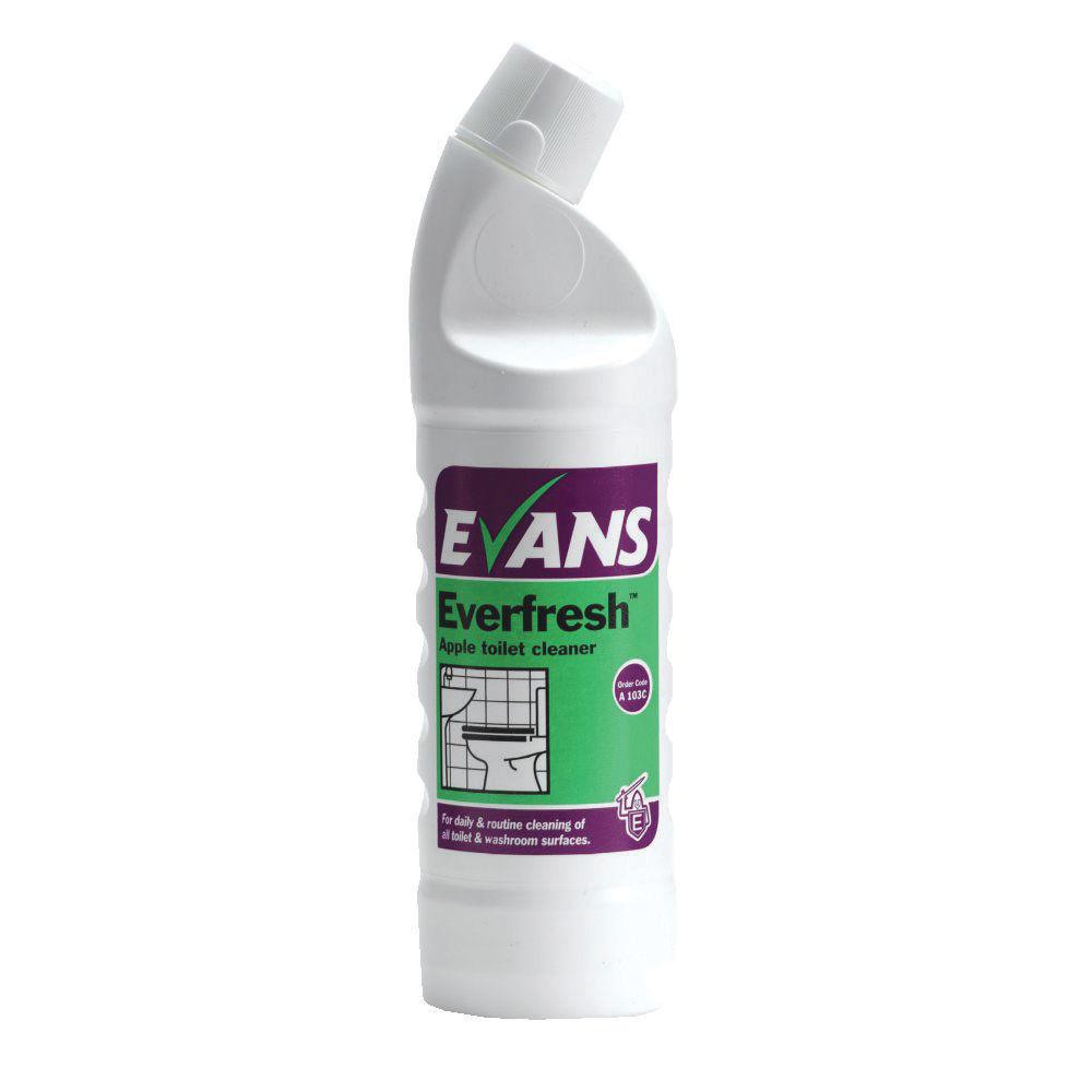 Evans Everfresh Apple Toilet Cleaner 1 Litre A103AEV