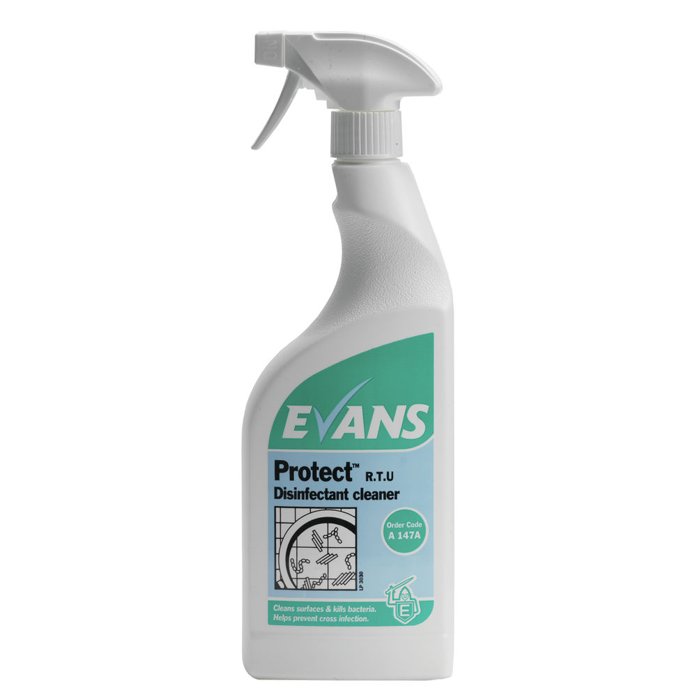 Evans Protect Ready-to-Use Disinfectant 750ml (Pack of 6) A147AEV