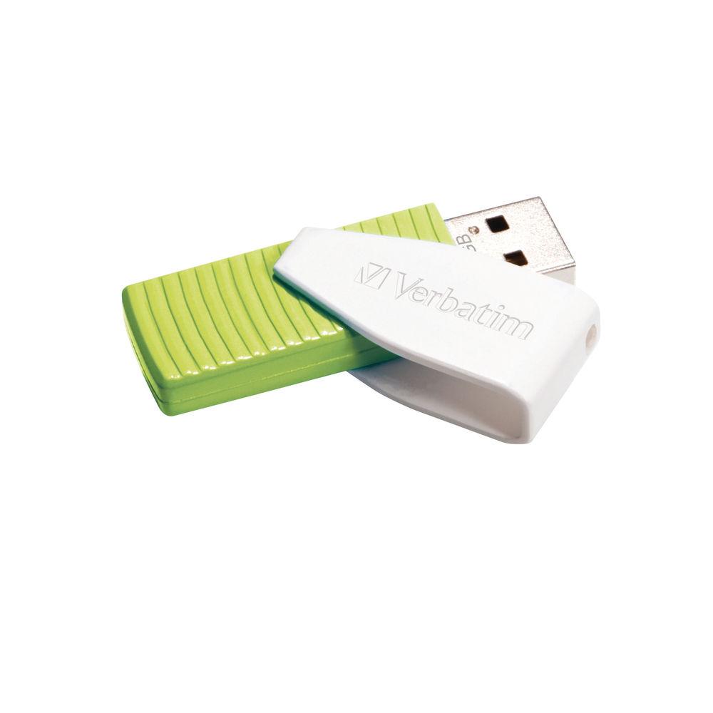 Verbatim Green 32GB Swivel USB 2.0 Drive - 49815