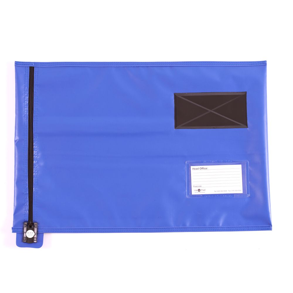 Go Secure Blue Flat Mailing Pouch - CVF3