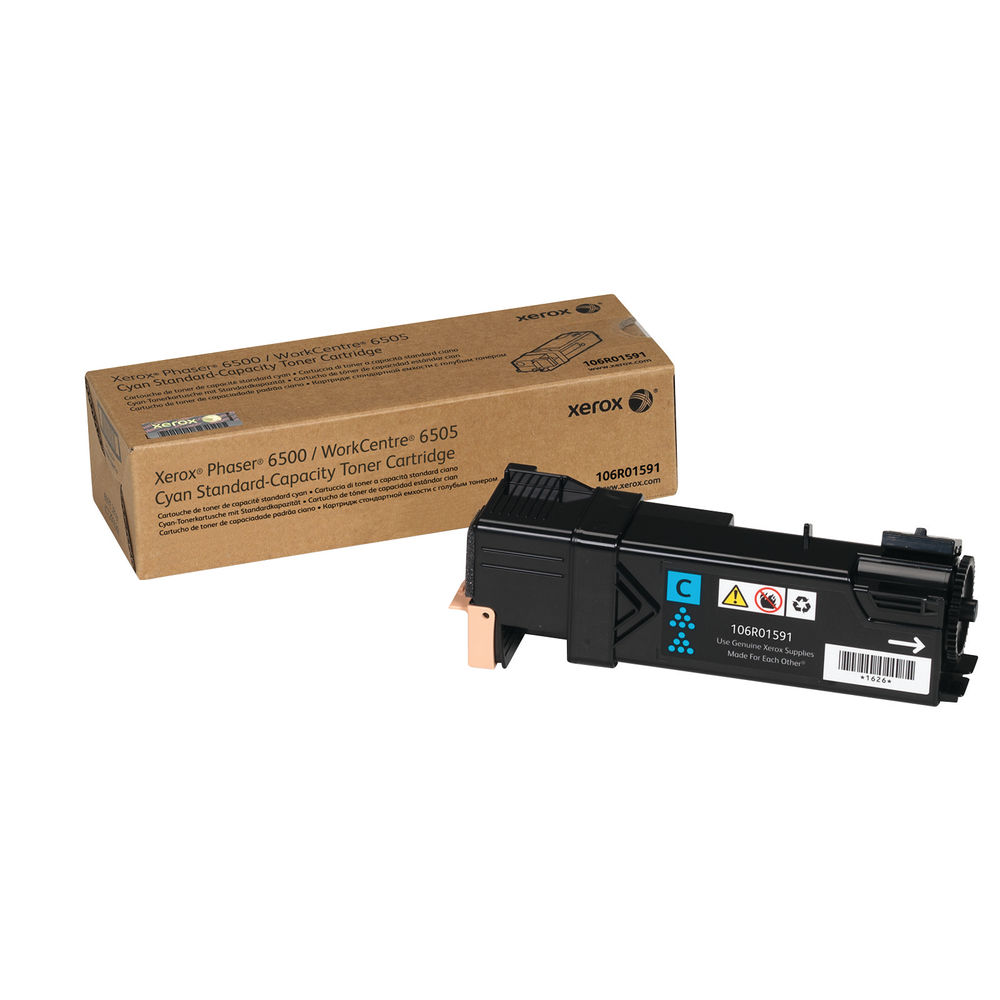 Xerox Phaser 6500 Cyan Toner Cartridge 106R01591