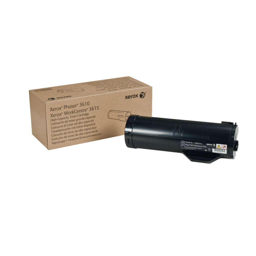 Xerox Phaser 3610 Black High Capacity Toner Cartridge 106R02722