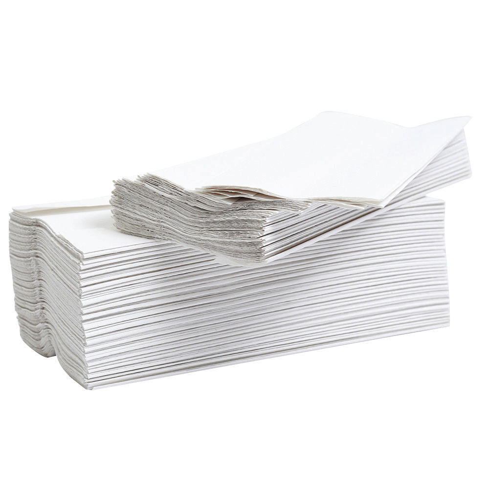 2Work Flushable C-Fold 2 Ply White Paper Hand Towels, Pack of 24 - HT2WA