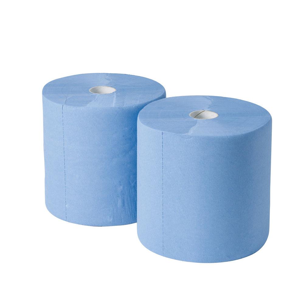 2Work 3-Ply Industrial Roll – Blue (Pack of 2) – GEM503B