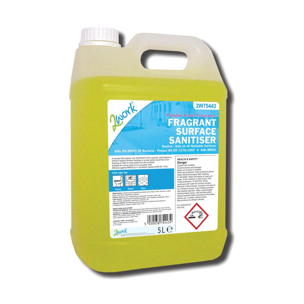 2Work Fragrant Surface Sanitiser 5 Litre - 810TFN