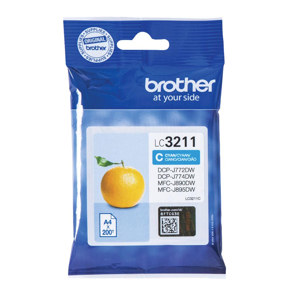 Brother LC3211C Cyan Ink Cartridge - LC3211C