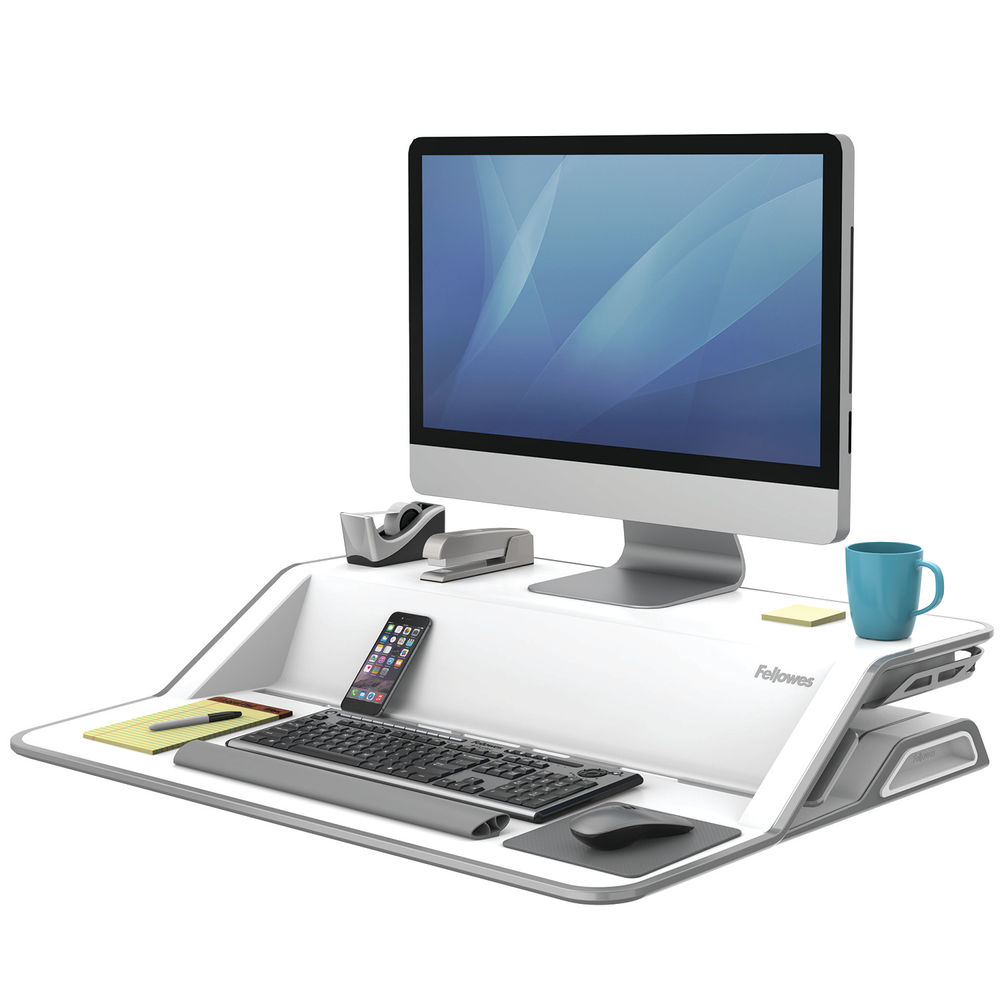 Fellowes Lotus White Sit Stand Work Station – 0009901
