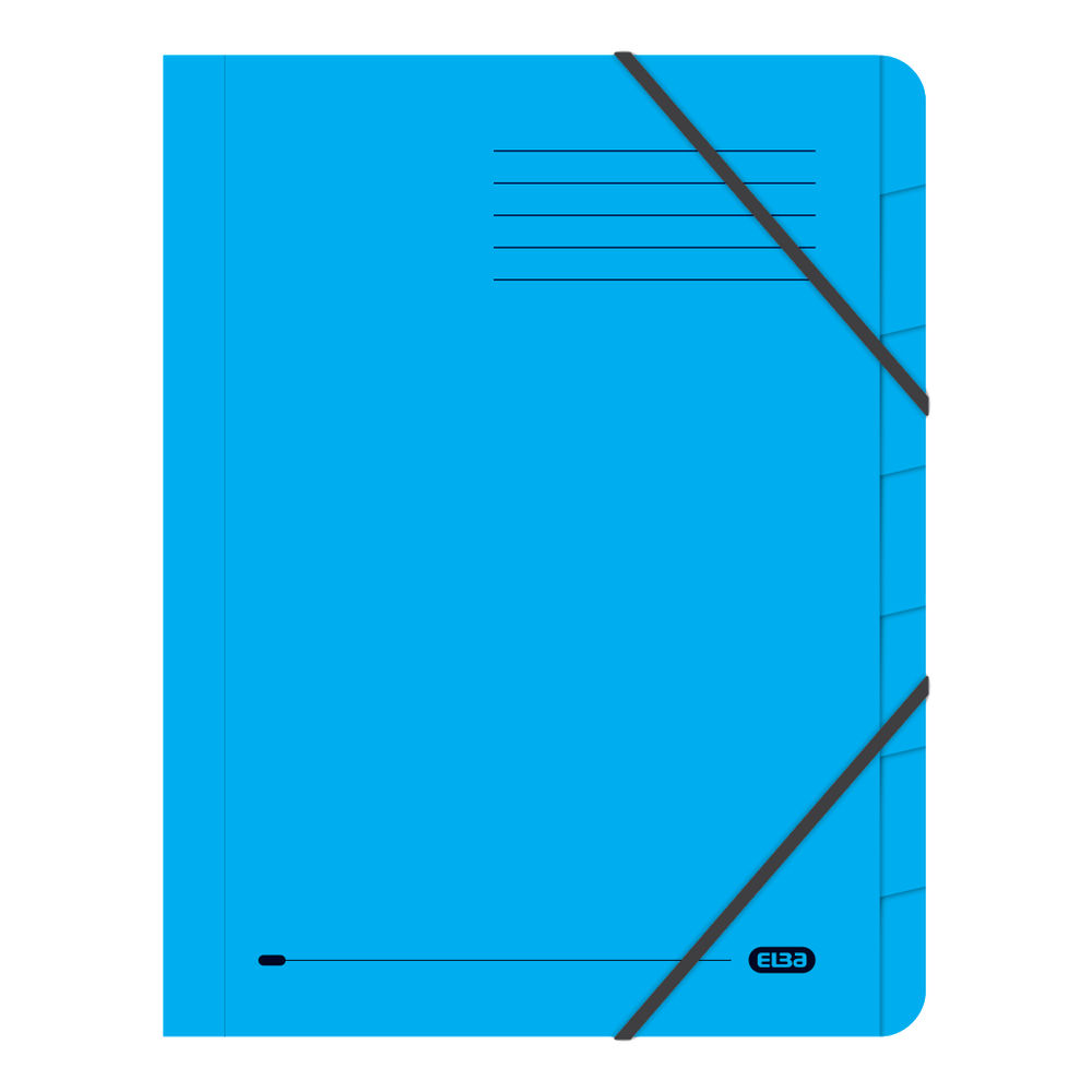 Elba Blue Strongline A4 7 Part File, 320gsm, Pack of 5 - 100090169