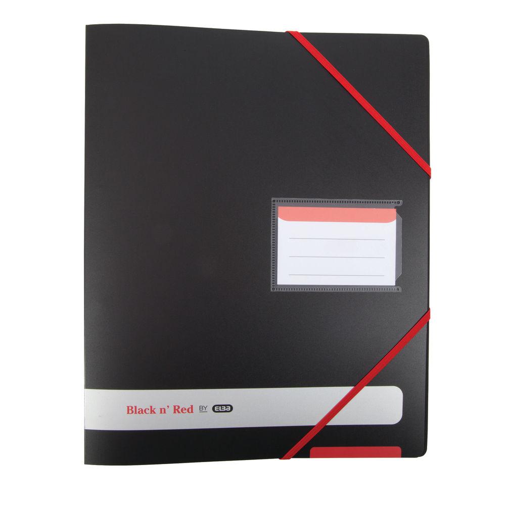 Elba Black n Red 4-Ring Binder 16mm A4 Black 400078863