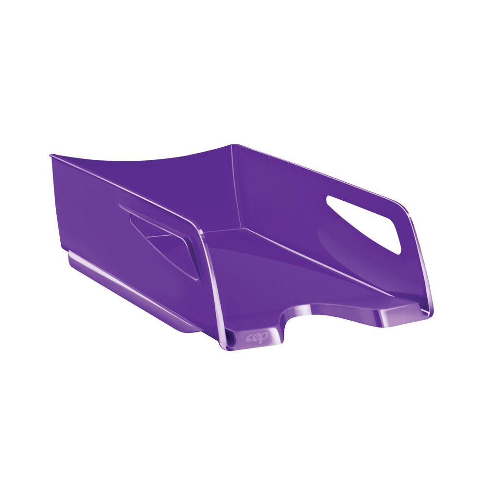 CEP Maxi Gloss Letter Tray Purple CEP00473