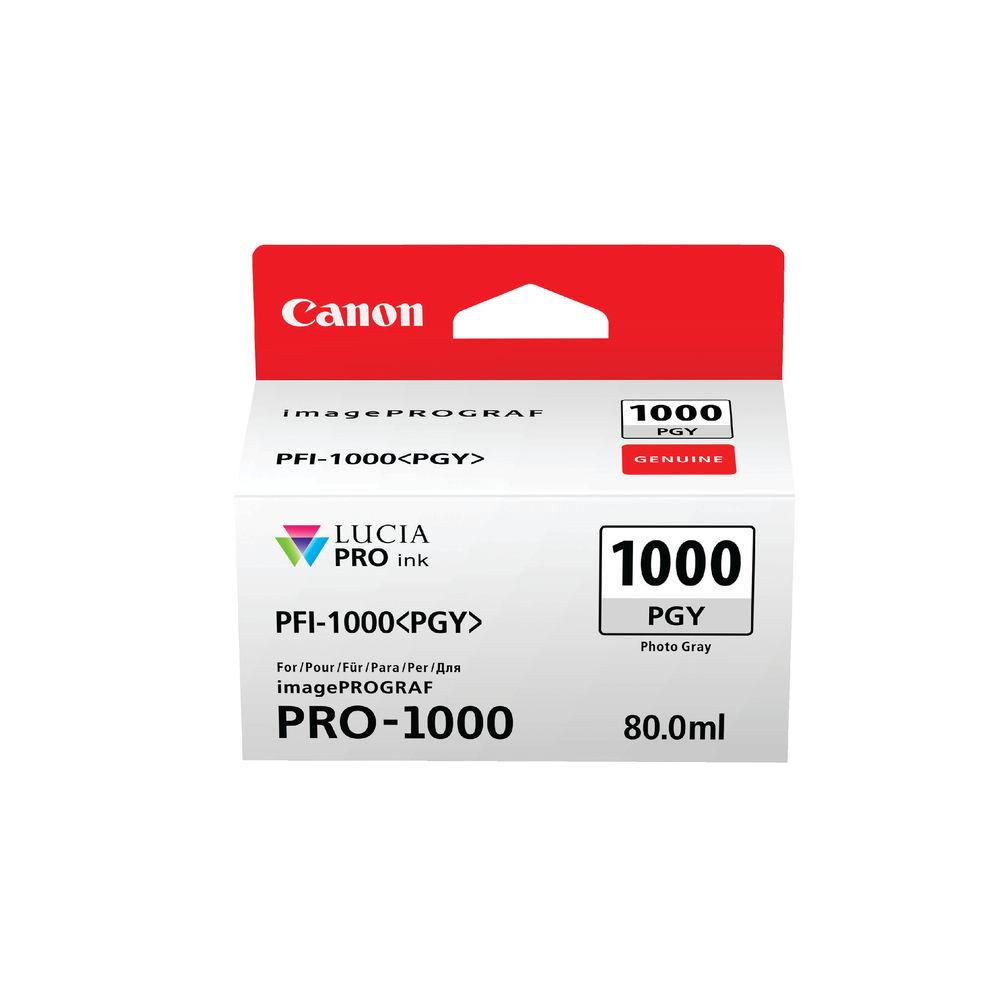 Canon PFI-1000PGY Photo Grey Ink Cartridge - PFI-1000 PGY
