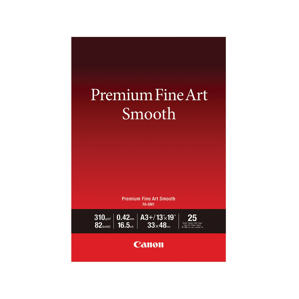 Canon A3+ Premium Fine Art Smooth Plus Paper 310gsm, Pack of 25 - 1711C004
