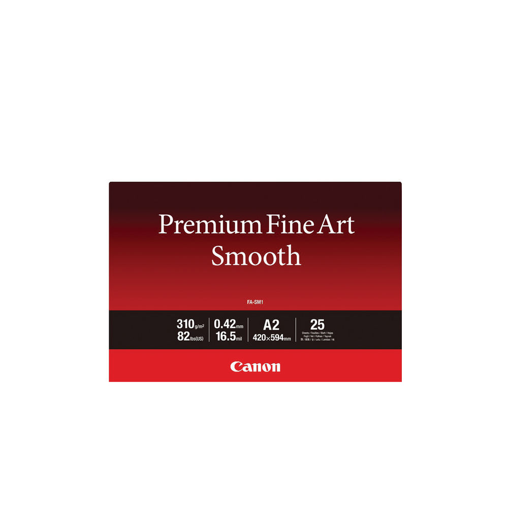 Canon A2 310gsm Premium Fine Art Smooth Paper (Pack of 25) – 1711C006