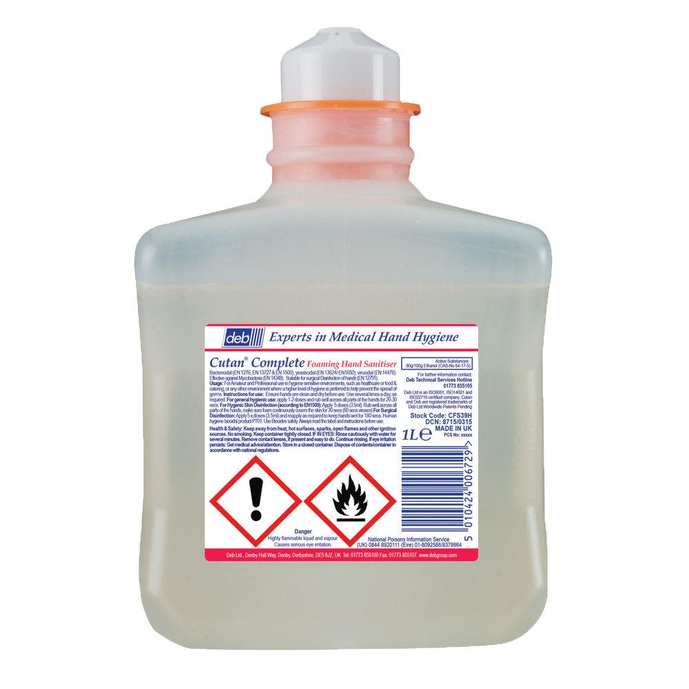 Deb 1 Litre Cutan Foaming Hand Sanitiser Refill - CFS39H
