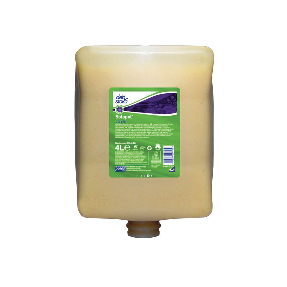 Deb 4 Litre Solopol Classic Hand Cleanser Refill - SOL4LTR