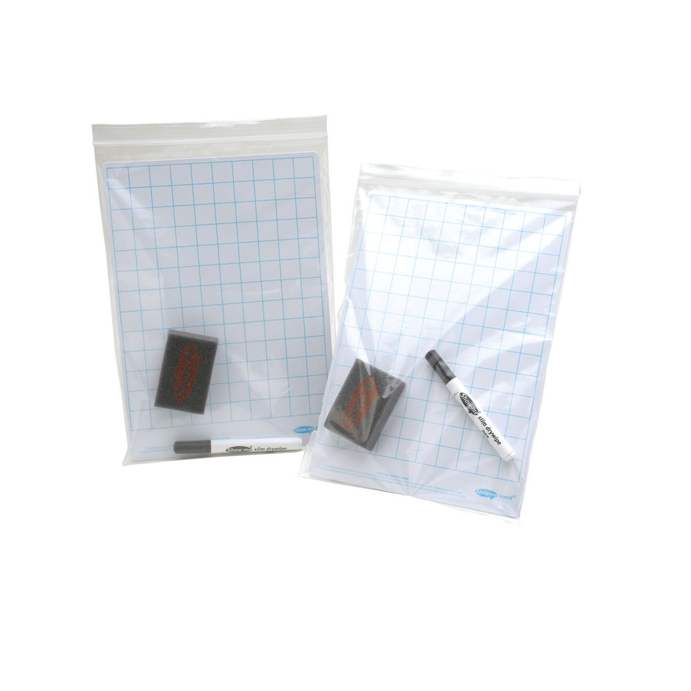 Show-me A4 Grip Seal Bags, Pack of 100 - GA4