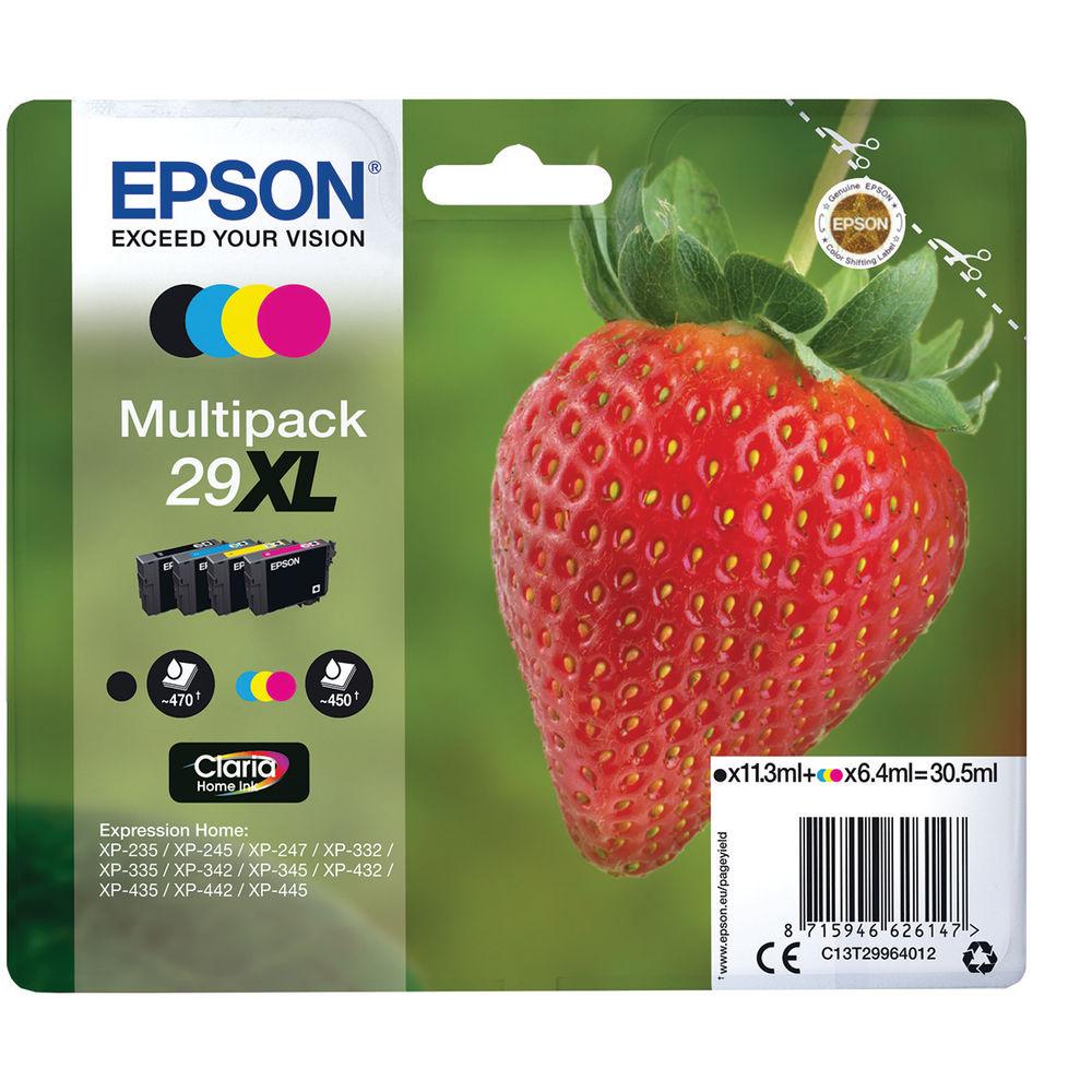 Epson 29XL High Capacity CMYK Ink Cartridge Multipack - C13T29964012