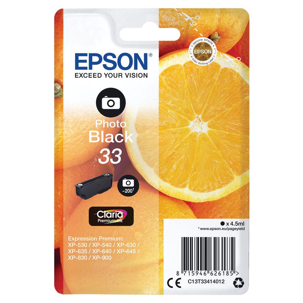 Epson 33 Photo Black Ink Cartridge - C13T33414012