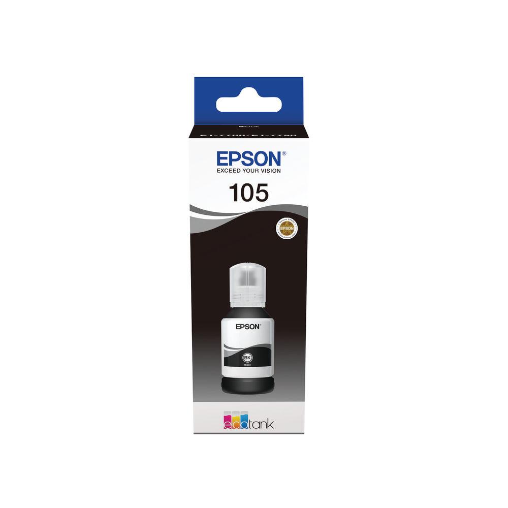 Epson 105 Black EcoTank Ink Bottle - C13T00Q140