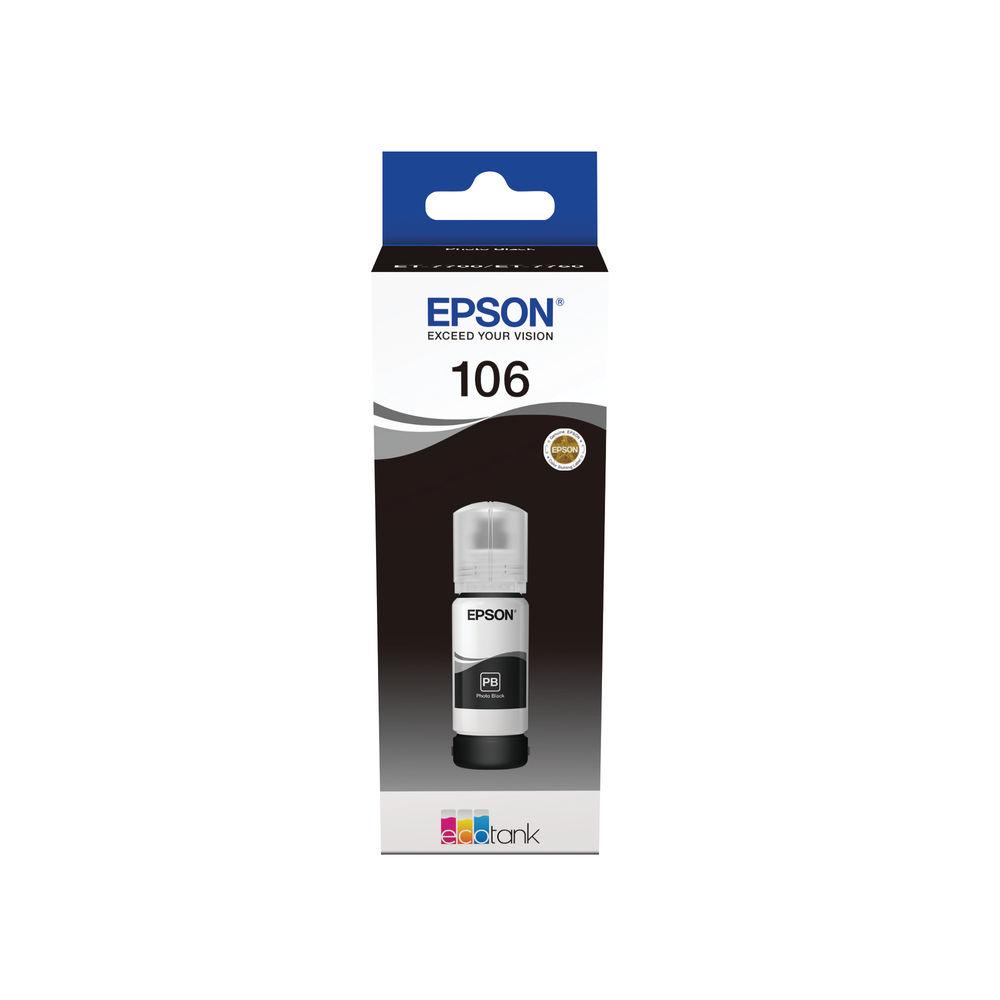 Epson 106 Photo Black EcoTank Ink Bottle - C13T00R140