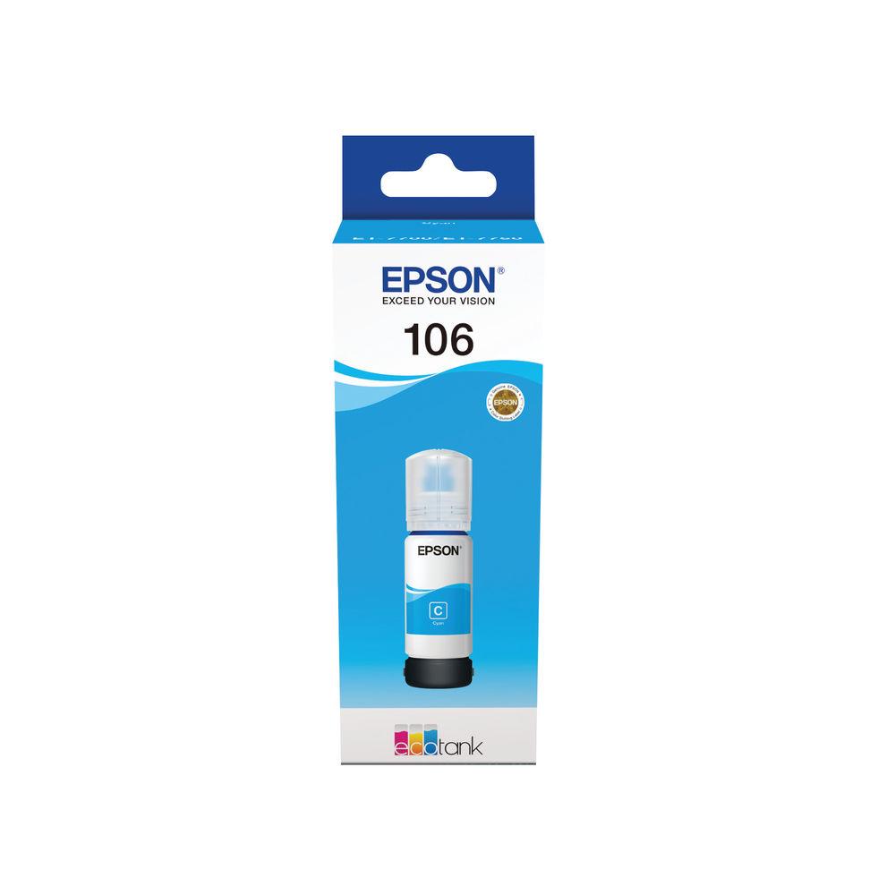 Epson 106 Cyan EcoTank Ink Bottle - C13T00R240