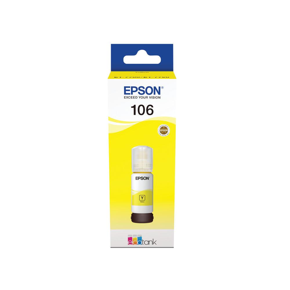 Epson 106 Yellow EcoTank Ink Bottle - C13T00R440