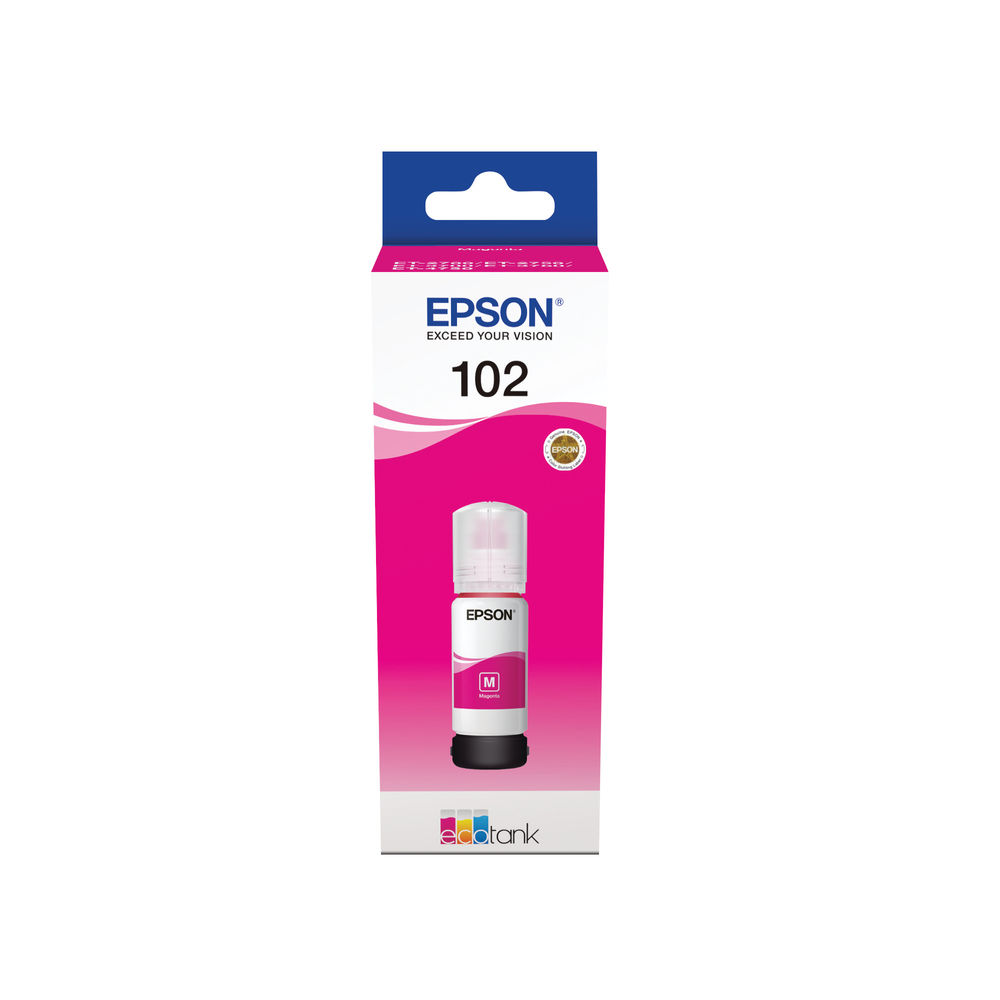 Epson 102 Magenta EcoTank Ink Bottle - C13T03R340