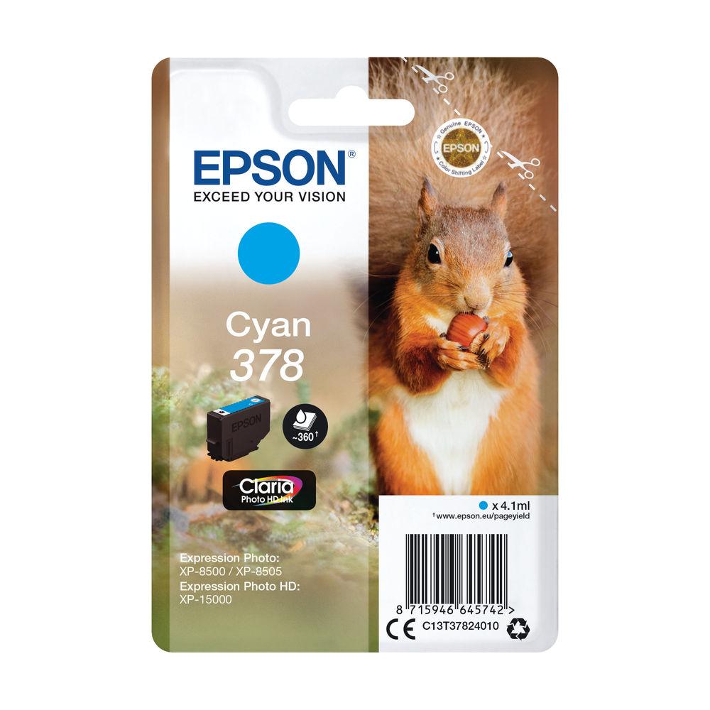 Epson 378 Cyan Ink Cartridge - C13T37824010