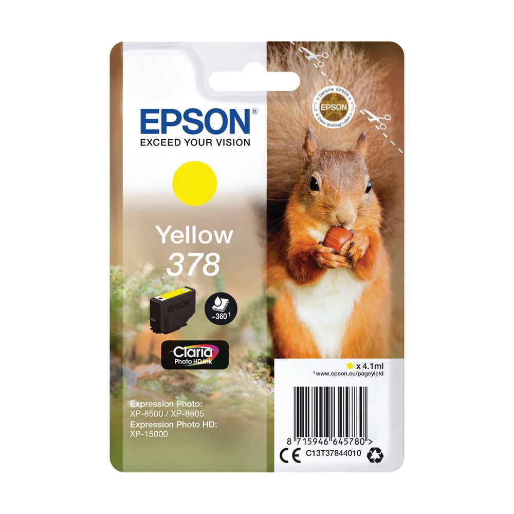 Epson 378 Yellow Ink Cartridge - C13T37844010
