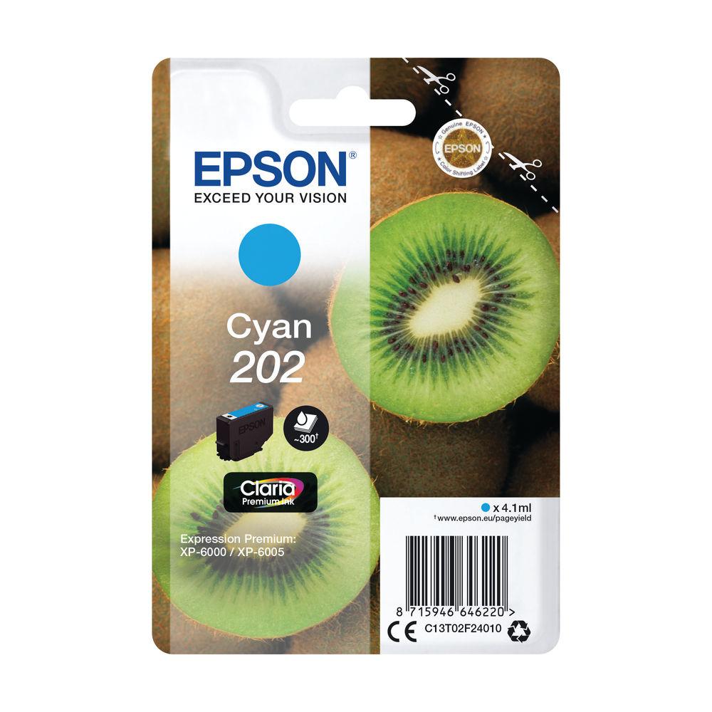 Epson 202 Cyan Inkjet Cartridge C13T02F24010