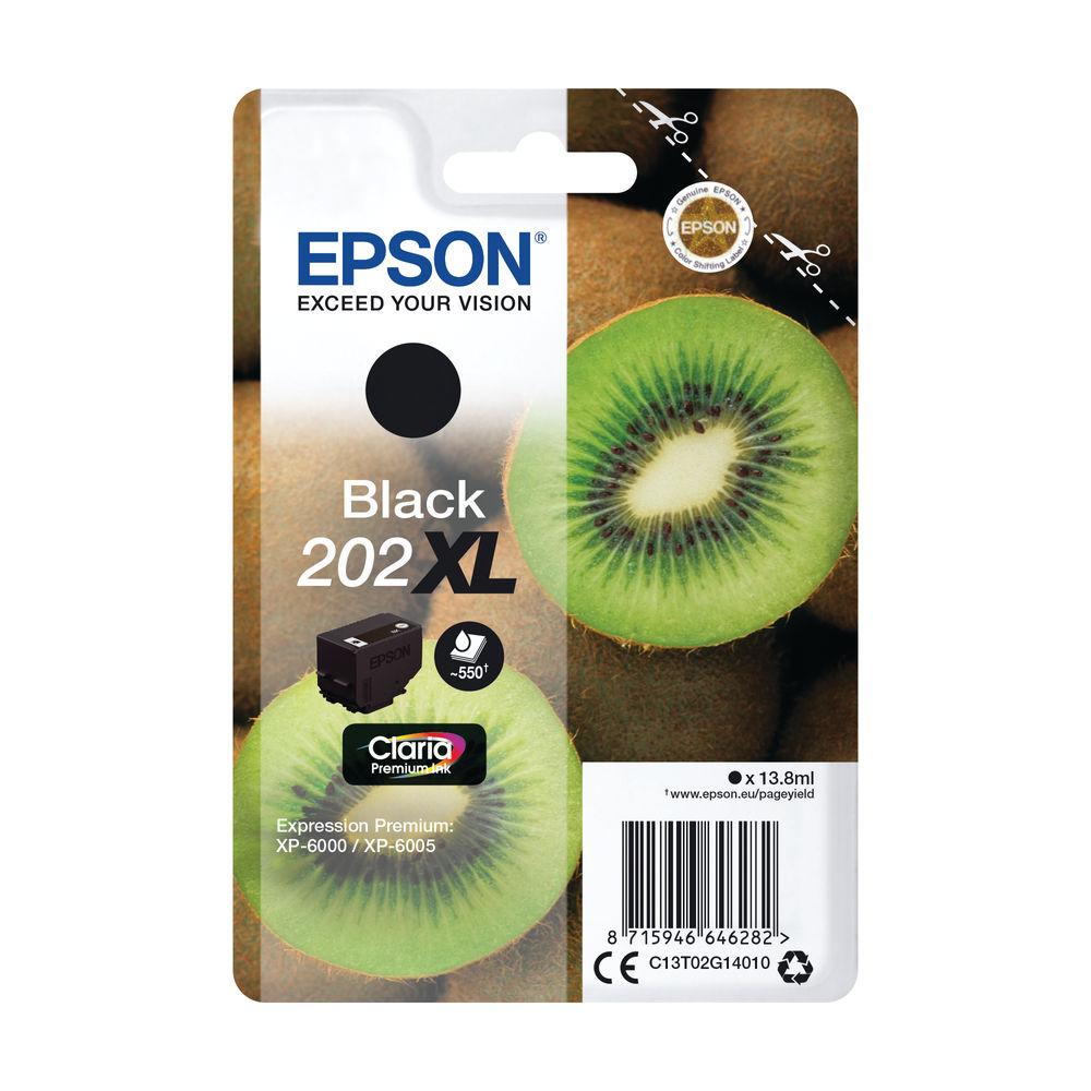 Epson 202XL Black Inkjet Cartridge C13T02G14010