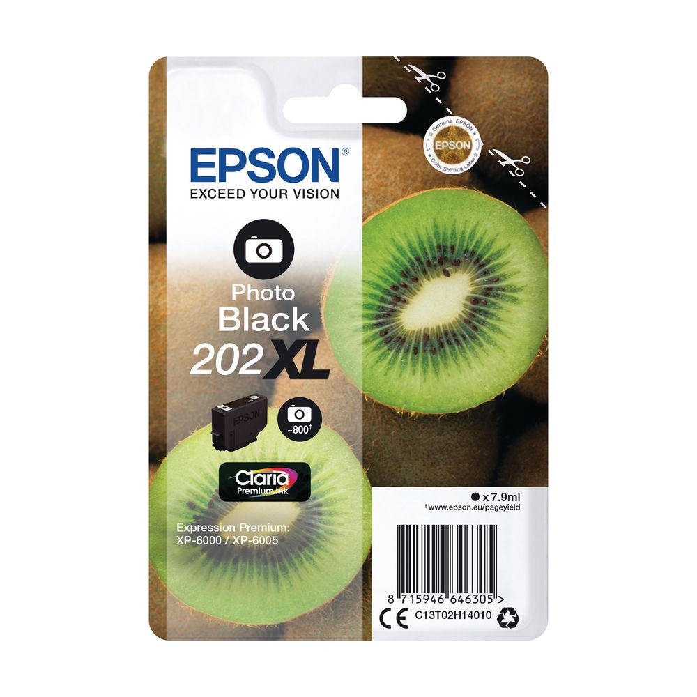 Epson 202XL Photo Black Inkjet Cartridge C13T02H14010