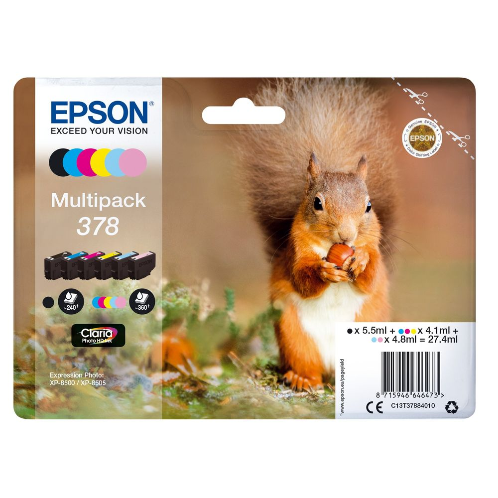 Epson 378 Black and Colour Ink Multipack - C13T37884010
