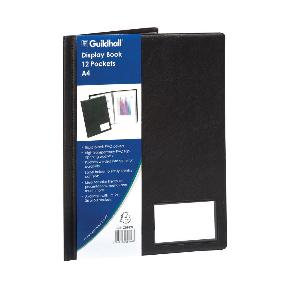 Goldline Black A4 Portrait Display Book (12 Pockets) - CDB12Z