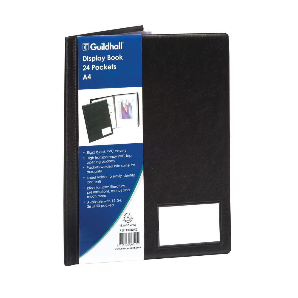 Goldline Black A4 Portrait 24 Pocket Display Book - CDB24Z