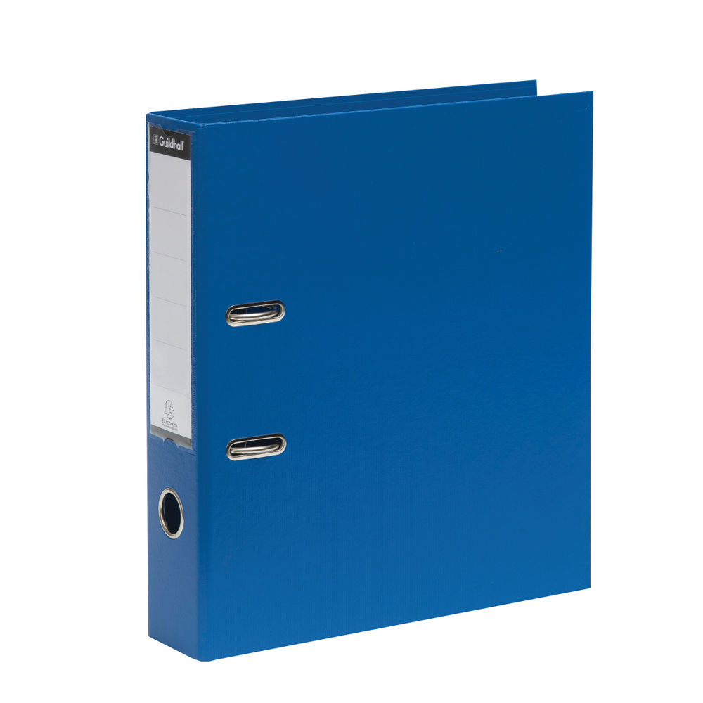 Guildhall Blue A4 Lever Arch Files 70mm, Pack of 10 - 222/2001Z