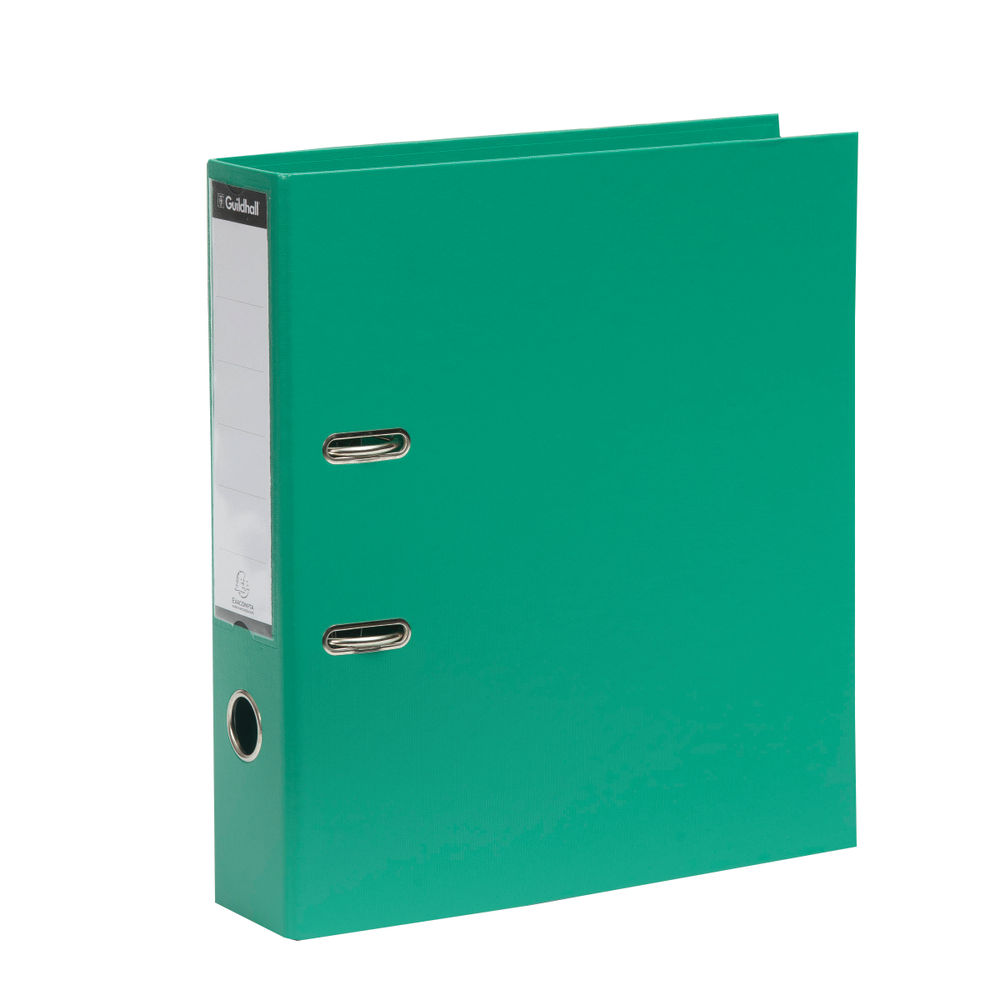 Exacompta Guildhall 70mm Lever Arch File A4 Green (Pack of 10) 222/2003Z