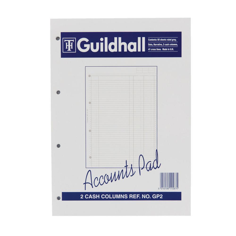 Guildhall 2 Cash Columns Account Pad - 1587
