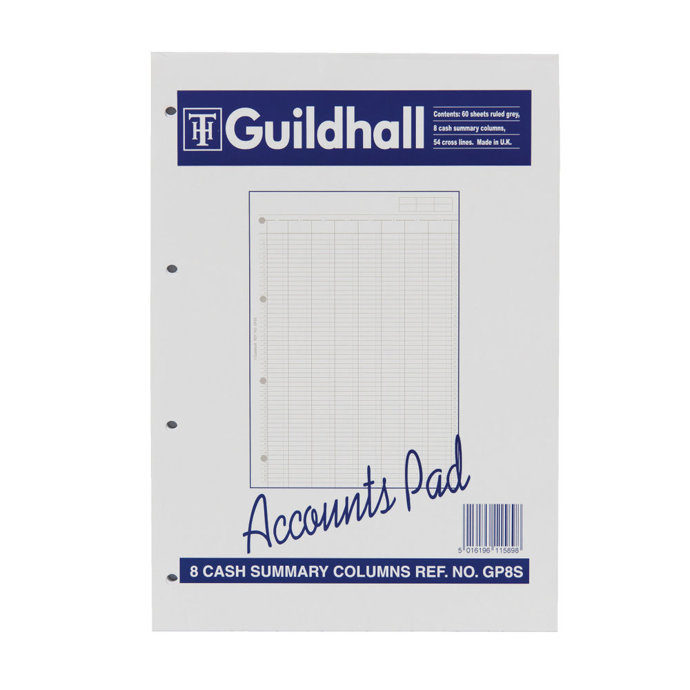 Guildhall A4 Account Summary Pad - 1589