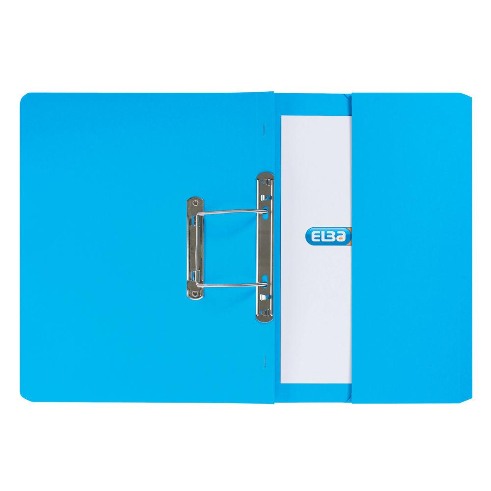 Elba Stratford Foolscap Blue Spring Pocket Files 32mm - Pack of 25 - GX30113