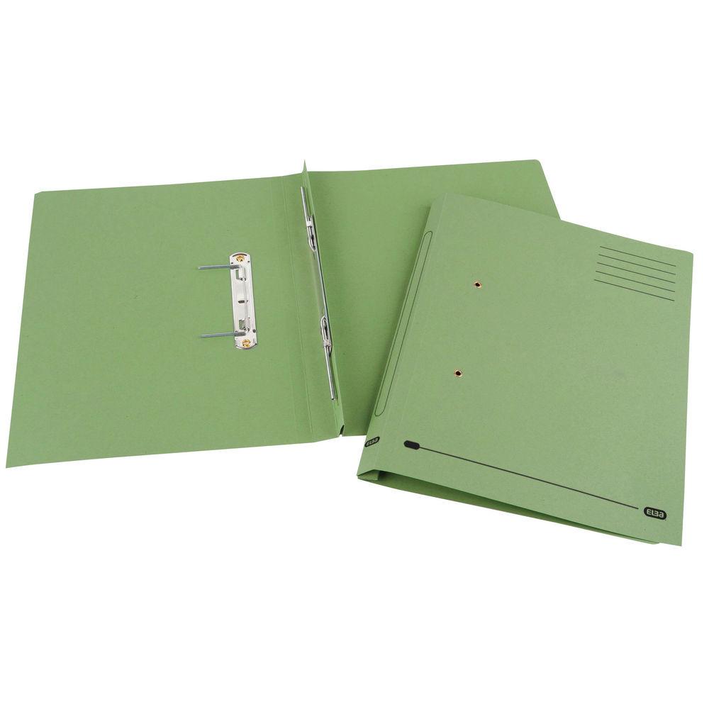 Elba Spirosort Foolscap Green Spring Files 315gsm, Pack of 25 - GX30614