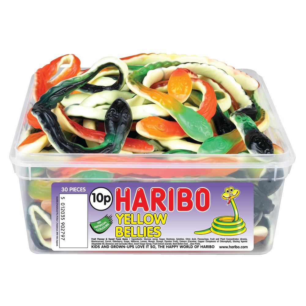 Haribo Giant Yellow Bellies Tub (30 Sweets) - 9644