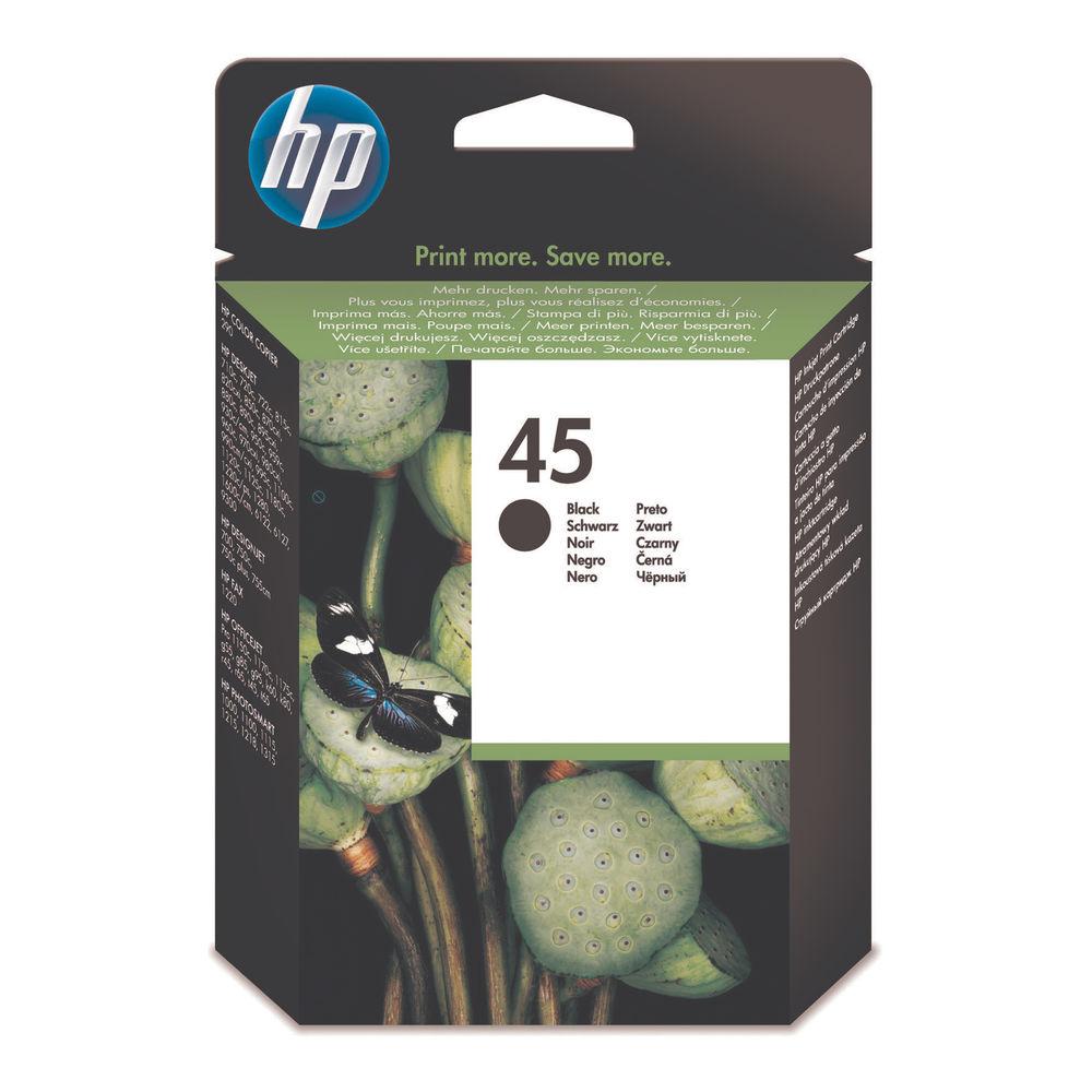 HP 45 Black Ink Cartridge - High Capacity 51645AE