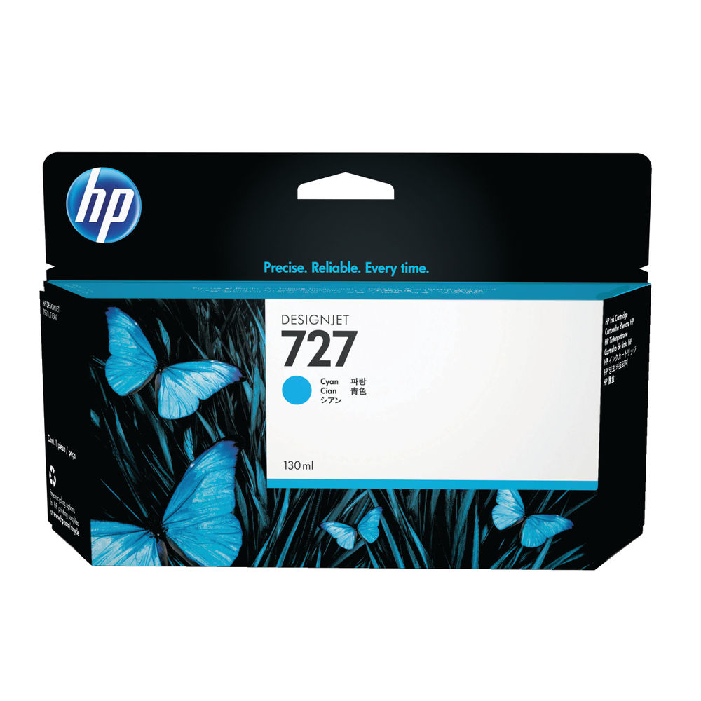 HP 727 Cyan High Yield Designjet Ink Cartridge B3P19A