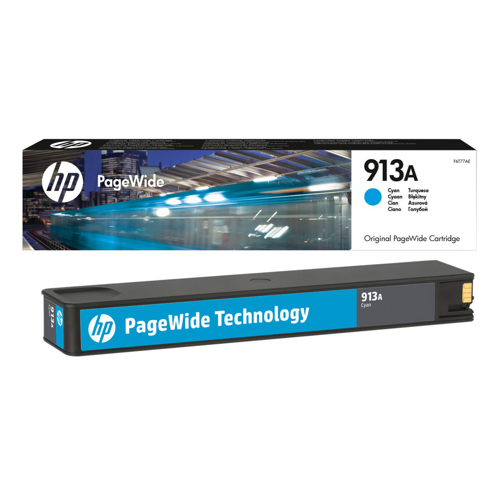 HP 913A Cyan Ink Cartridge - F6T77AE