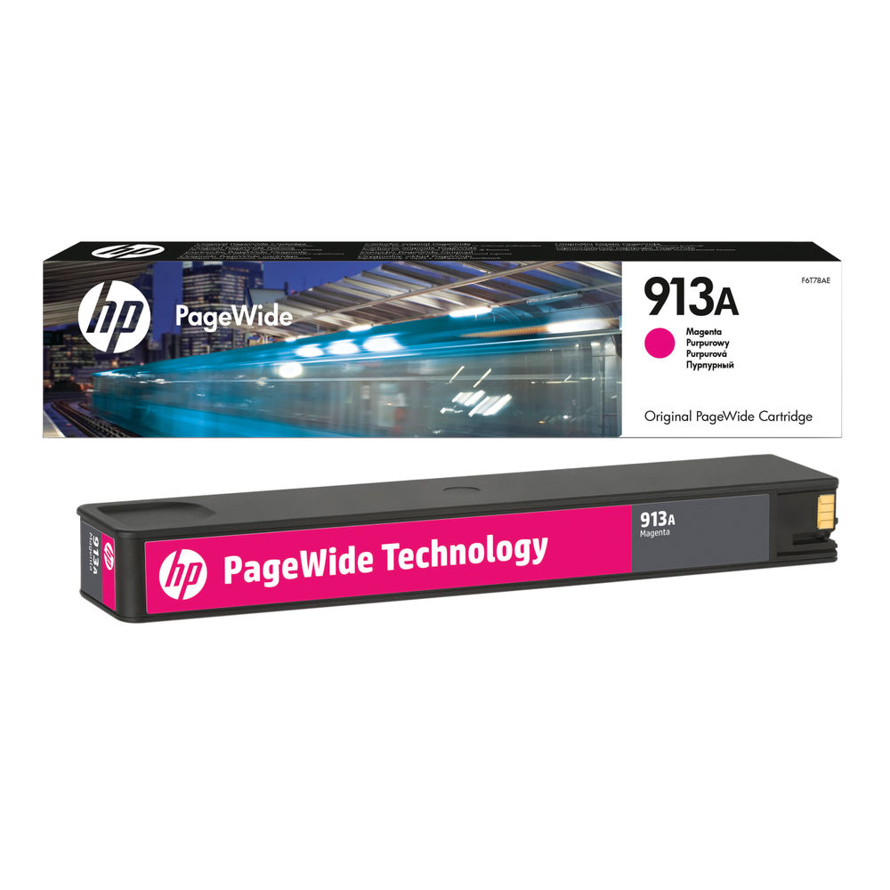 HP 913A Magenta PageWide Inkjet Cartridge (3000 page capacity) F6T78AE